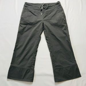 PraNa Grey Capri Cropped Outdoors Hiking Pants S